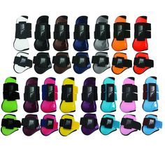 The Norton Pro Tendon And Fetlock Boots are high tech anatomical boots with a flexible shell in moulded plastic and a thick neoprene lining with the edges covered with jersey. Available in black, brown, grey, burgundy, green, grey, light blue, navy, orange, pink, purple, raspberry, red, turquoise and white.