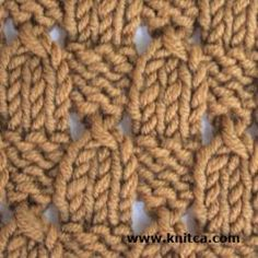 Right side of knitting stitch pattern – Lace 10 : www.knitca.com