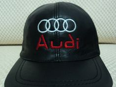 7d238950d2e Buy Online Adjustable Black Very Soft Lambskin Audi Leather Baseball Hat Cap.  Free Shipping +