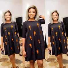 Online Hub For Fashion Beauty And Health: Stylishly Lovely Simple Ankara Short Gown Dress Fo. Ankara Short Gown Dresses, Short African Dresses, Ankara Short Gown Styles, Trendy Ankara Styles, Short Gowns, Latest African Fashion Dresses, Ankara Dress, Ankara Fashion, Kente Styles