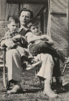Father Sons: Frank Stallone, Jr. (L), Frank Stallone, Sr., Sylvester Stallone (R)