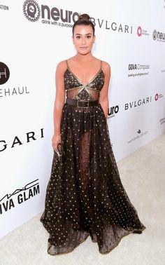 Lea MicheleElton John's Oscars party