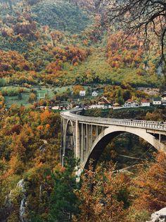 Jesen u Crnoj Gore Most na Đurđevića Tari Montenegro, Twitter, Summer, Birthday Gift Baskets, Summer Time