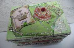 Caixa decorado 14x10cm - Vadita Decor, produtos de decoração