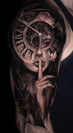New Ideas for tattoo sleeve mandala men black Pin Up Tattoos, Trendy Tattoos, Girl Tattoos, Best Tattoo Designs, Tattoo Sleeve Designs, Sleeve Tattoos, Full Tattoo, Epic Tattoo, Tatoos Men