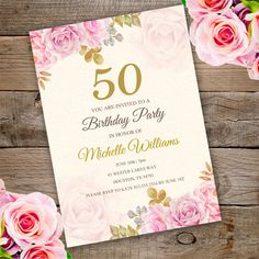 Anniversary Birthday Party Invitation Template