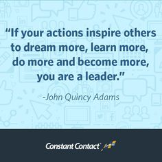 Great quote from our 6th president, John Quincy Adams