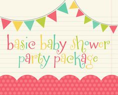 Party Pack SALE  Its a Boy or It's a Girl by DreamPartyPaperie