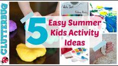 5 Easy Summer Activity Ideas for Kids - Dollar Tree Summer Fun Summer Camp Crafts, Summer Diy, Summer Camps For Kids, Summer Activities For Kids, Diy Projects For Kids, Fun Crafts For Kids, Toddler Crafts, Design Projects, Business For Kids