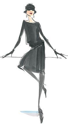 the Chanel Jersey Dress, fashion illustrator Donna Mehalko Source by streetform fashion illustration Fashion Illustration Dresses, Fashion Illustrations, Fashion Sketches, Animal Illustrations, Fashion Drawings, Illustrations Posters, Moda Fashion, Fashion Art, Fashion Design