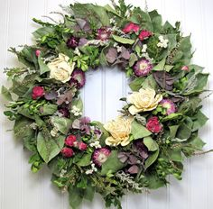 Hey, I found this really awesome Etsy listing at https://www.etsy.com/listing/217777750/dried-floral-wreath-cottage-decor-salal
