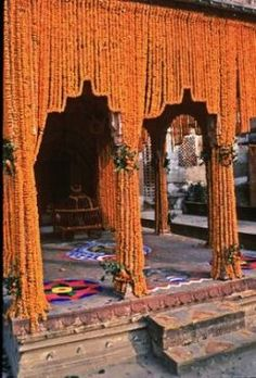 Marigold Garland in India!