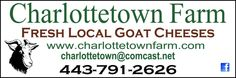 Had the pleasure of meeting one of the owners of Charlottetown Farm - Goat Cheeses. Heard of Woodberry Kitchen? Amazing Farm to Table restaurant in Baltimore? Yep, well go right to the farm and get their famous and affordable products.    It gave me chills to hear their true story of success, from never having goats to taking care of 2 goats to making goat cheeses for their friend  s and family, to starting a business that is exploding! Really awesome to find small business success stories.