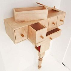 Unique Nightstand Small Drawers #cnc #comodas http://cnc.gallery/