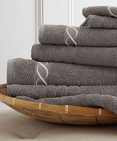 Love this Platinum Chain Embroidered Towel Set on #zulily! #zulilyfinds