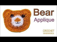 How to crochet bear applique How to crochet a circle for beginners(DC) free pattern tutorial - YouTube