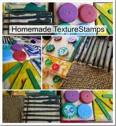 Homemade Texture Stamps Collage