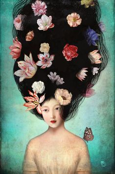 The Botanist's Daughter Art Print by Christian Schloe | Society6