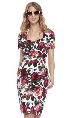 6a8cf9b5fc Michaela Louisa 8236 Floral Print This outfit combines vintage floral  fabric with on-trend styling