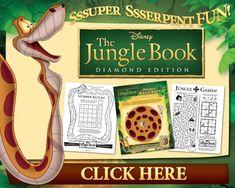 Printable Jungle Book Activity Sheets