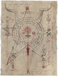 Page from Necronomicon Lovecraft¡ Occult Symbols, Magic Symbols, Occult Art, Ancient Symbols, Magick, Witchcraft, Dark Fantasy, Fantasy Art, Necronomicon Lovecraft