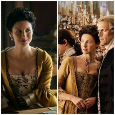 I think the Jamaica gown may be showing a bit of aerola. It could be a shadow. Voyager Outlander, Outlander Season 4, Outlander Book Series, Outlander 3, Claire Fraser, Jamie And Claire, Jamie Fraser, Cinema Theatre, Theater