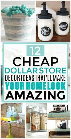 12 Cheap and Easy Dollar Store Decor Hacks That'll Make Your Home Look Amazing, amazing Ch. - 12 Cheap and Easy Dollar Store Decor Hacks That'll Make Your Home Look Amazing, Diy Home Decor Rustic, Easy Home Decor, Cheap Home Decor, Farmhouse Decor, Home Decor Hacks, Inexpensive Home Decor, Decor Diy, Diy Decoration, Country Farmhouse