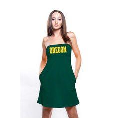 3f0fe26d5c College Oregon Ducks Women s Tube Dress with Pockets Tube Dress