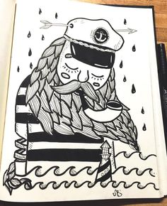 -As dry as the shoreline in an ocean of fear- #doodlin #handdrawn #ink #inktober #shoreline #deasvail #ocean #art