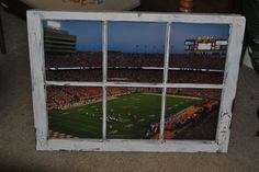 Neyland Stadium in a Window Frame Ut Football, Tennessee Football, University Of Tennessee, Tennessee Knoxville, Neyland Stadium, Busch Stadium, Vol Nation, Ben Hill, Tennessee Girls