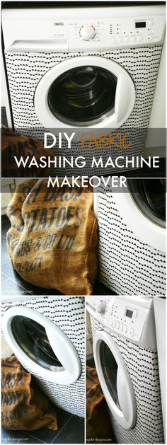 I gave my tired old washing machine a makeover WITH FABRIC! Find out how I did…