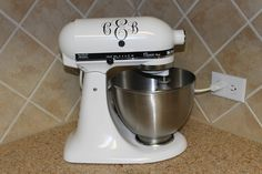 life with luke: Monogrammed Mixer