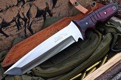 CFK USA Ipak Survival Custom Handmade D2 Tanto Hunter Battle Raptor Knife Second | eBay