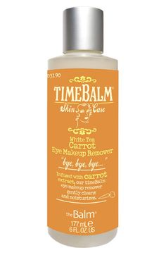 'TimeBalm®' Carrot Eye Makeup Remover:  This gentle eye makeup remover is perfect for women with sensitive skin.