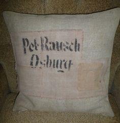 Kissenbezüge - 50 x 50 cm-Kissenbezug, antikes LEINEN! - ein Designerstück von…