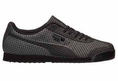 Puma Roma Woven Mesh Shoe features Woven material finish. Signature logo design and Lace-up fastening. Padded cuffs for extra comfort. Textured tread.