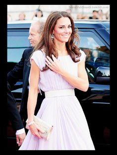Inspirational look - What woman doesn't want to look like a Princess - Kate Middleton in Alexander McQueen wearing earrings lent to her by the Queen,