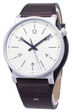 Features: Stainless Steel Case Leather Strap Quartz Movement Mineral Crystal Cream Matte Dial Analog Display Date Display Pull/Push Crown Solid Case Back Buckle Clasp Water Resistance Approximate Case Diameter: Approximate Case Thickness: Marble Mugs, Funny Birthday Gifts, Hippie Jewelry, Tribal Jewelry, Fossil Watches, Watch Sale, Vintage Costume Jewelry, Stainless Steel Case, Michael Kors Watch