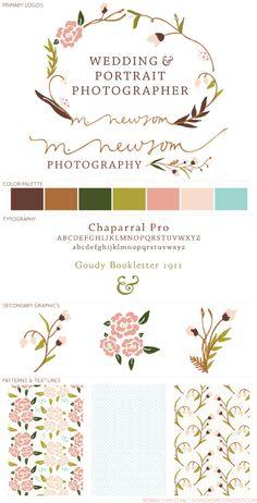 Love the colour pallette! bonnie christine logo design for m.newsom photography
