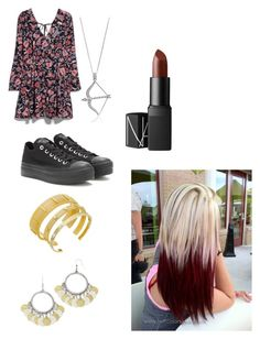 """Pauline 1"" by manonvantwembeke on Polyvore featuring mode, MANGO, Converse, Vince Camuto, Decree, BERRICLE et NARS Cosmetics"
