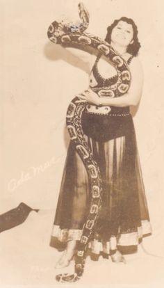 Ringling Brothers snake charmer Ada Mae (real name: Ada Mae Moore) c. 1940s