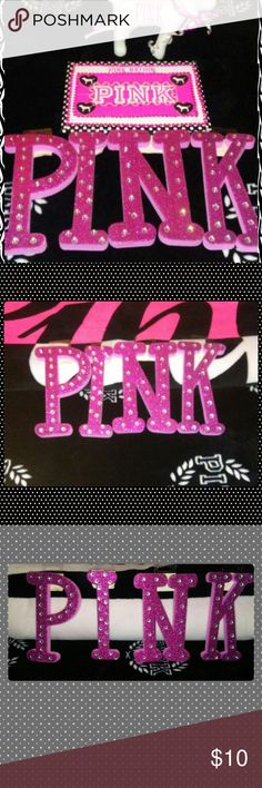 PINK VS(DIY MADE BY ME) This is another DIY MADE BY ME WITH PINK ?? BAGS AND WITH DESIGN TAPE WITH (CRAFT GLUE)(CRAZY GLUE)(BLING STICKERS)(STICKERS WITH DOGS)(PIC FRAME IS MADE BY ME WHICH I USED 2 FOAM BORADS 1 PIECE OF BROWN BOX BETWEEN FOAM BORADS. AGAIN THIS IS MADE BY ME ITS A DIY BESIDES THE LETTERS SPELLED (PINK) I BOUGHT IN THE BACK OF THE  FRAME I MADE I LEFT IT BLANK AND U COULD PUT A PIC U WANT TO PUT ALSO U MUST HAVE A RATING HISTORY TO PURCHASE 5-15. OR MORE IF U DON'T BE AWARE…