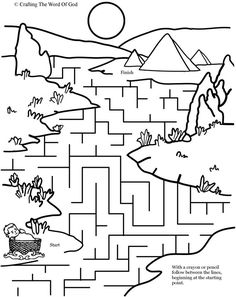 Moses In The River Puzzle (Activity Sheet) Activity sheets are a great way to end a Sunday School lesson. They can serve as a great take home activity. Or sometimes you just need to fill in those l…