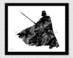 Darth Vader print Star Wars poster Darth Vader by FluidDiamondArt