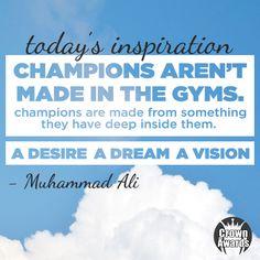 Muhammad Ali Shares Words of Wisdom. #InspirationalQuotes