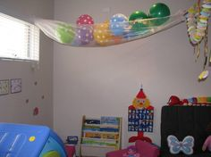 Ideas for setting up and organising a play room or play area for kids to encourage many play opportunities. Reading corner, imaginative play area, games and puzzles. Playroom Decor, Playroom Ideas, Basement Ideas, Toddler Crafts, Toddler Activities, Movie Crafts, Ball Storage, Resource Room, School Decorations