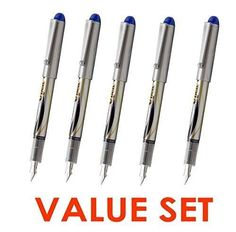 Pilot V Pen (Varsity) Disposable Fountain Pens Blue Ink Small Point Value Set of 5With Our Shop Original Product Description