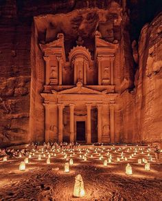 The light festival at Petra in Jordan. Photo by ●○● Double tap ●○● ■□■ Tag who you'd take to Petra ■□■ Petra is a historical and archaeological city in the. Places To Travel, Places To See, Travel Destinations, Travel Around The World, Around The Worlds, City Of Petra, Jordan Photos, Jordan Travel, Wadi Rum