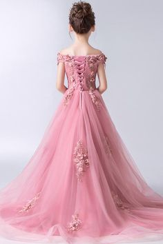 Buy Gorgeous Pink Off the Shoulder With Lace Appliques High Low Tulle Flower Girl Dresses in uk. Find the perfect flower girl dresses at jolilis. Our flower girl dresses come in a variety of styles & colors including lace, tulle, purple & gold