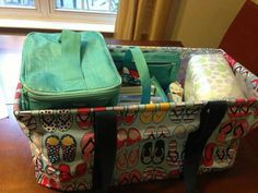 Large Utility Tote in fun flop pattern